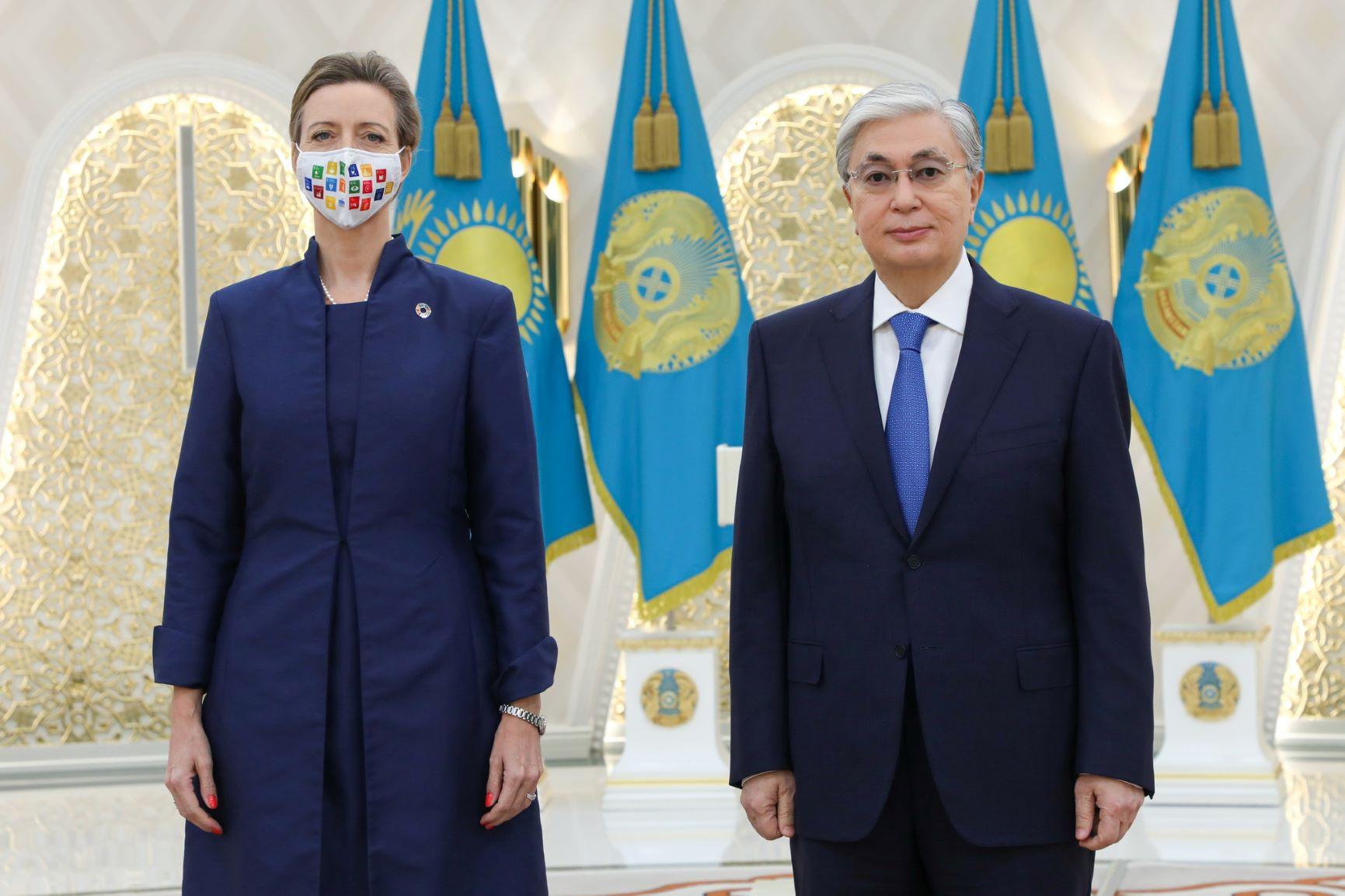 Новый Постоянный координатор ООН в Республике Казахстан Микаэла Фриберг-Стори вручила верительные грамоты Президенту Касым-Жомарту Токаеву
