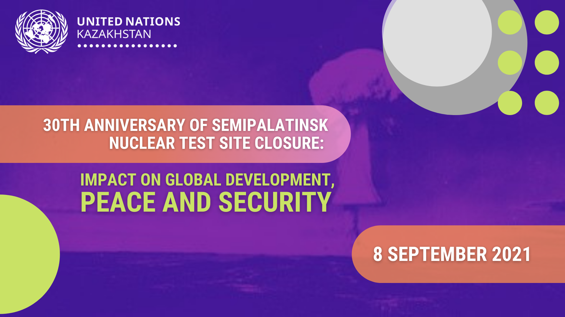 ООН в Казахстане провела круглый стол, посвященный 30-летию закрытия Семипалатинского ядерного полигона